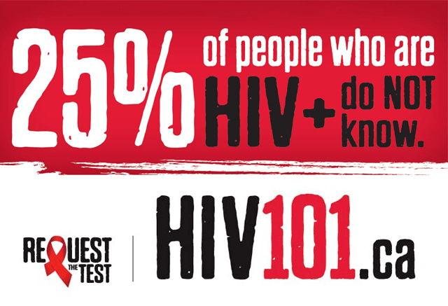 Request the Test. Visit hiv101.ca
